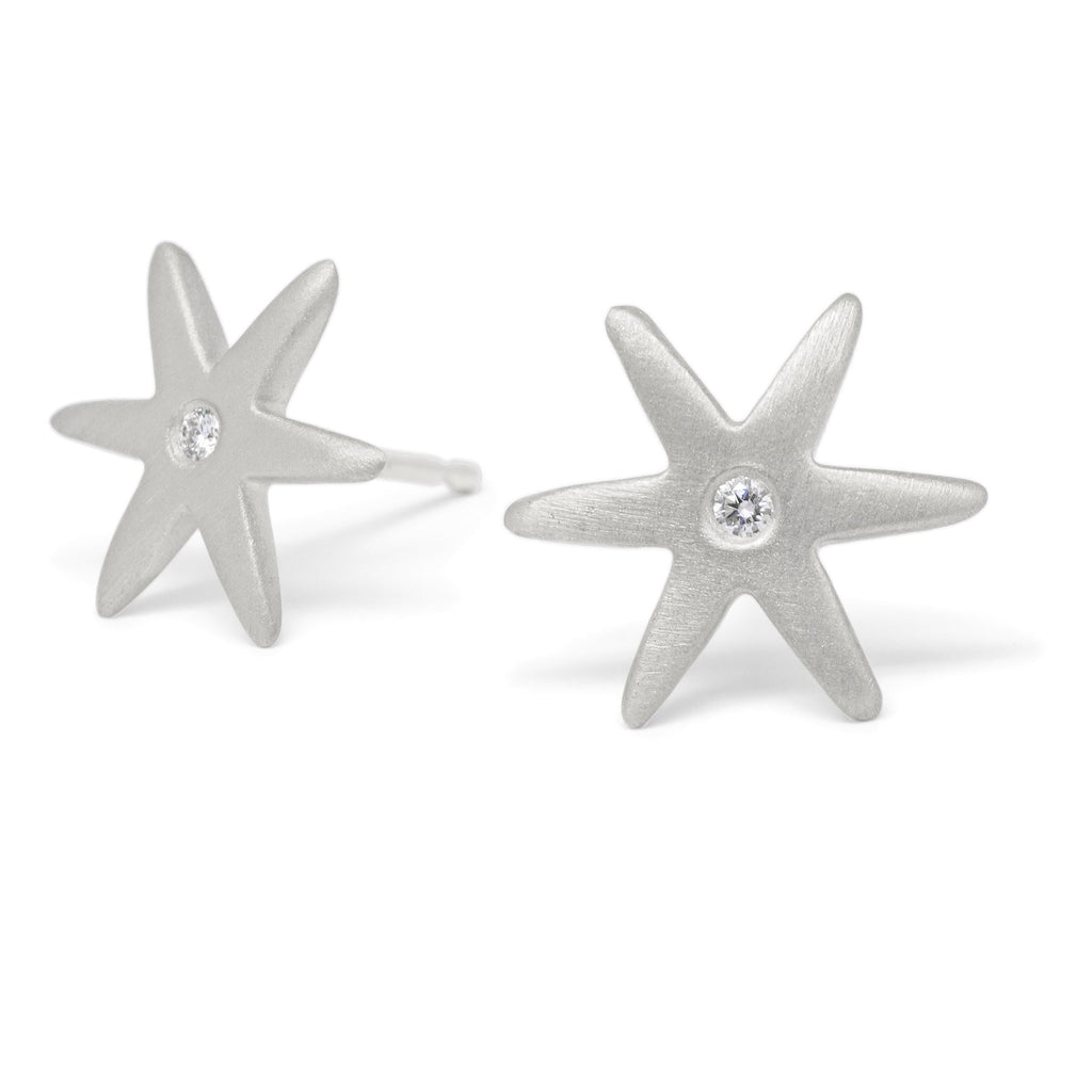 Diamond Center Star Earring