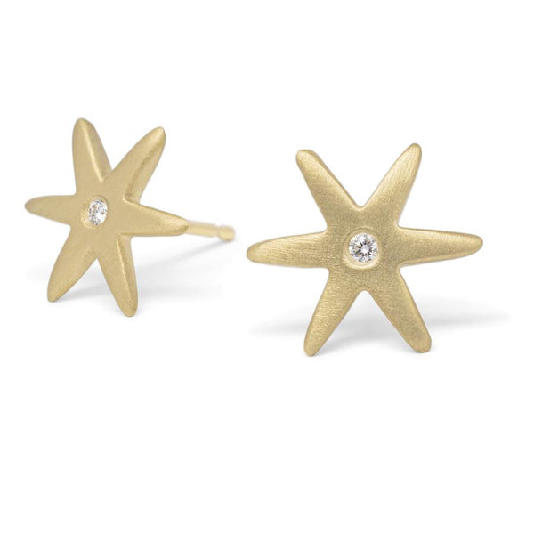 Diamond Center Star Earring | Magpie Jewellery