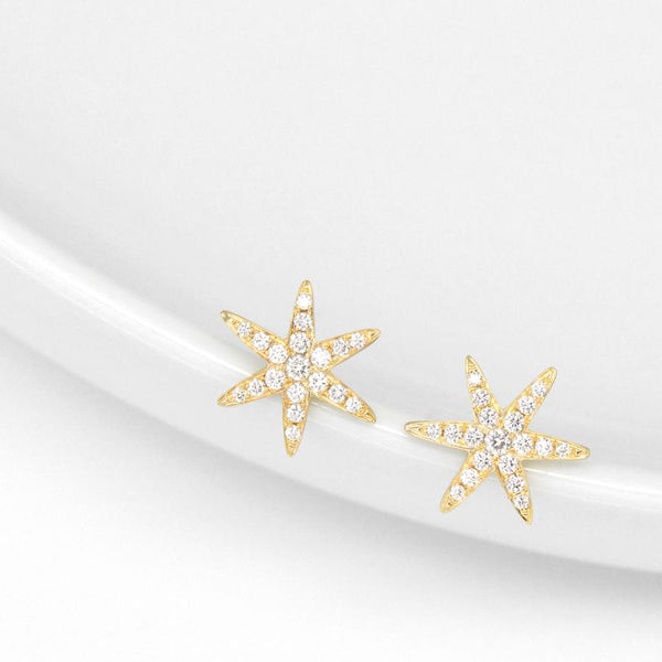 Diamond Pave Star Earrings | Magpie Jewellery