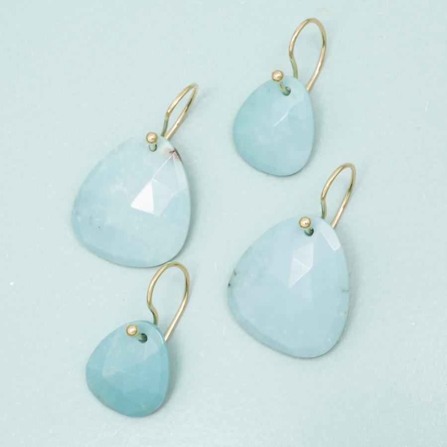 Trillium Drop Earrings - Turquoise YG