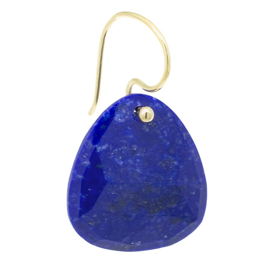 Trillium Drop Earrings - Lapis YG
