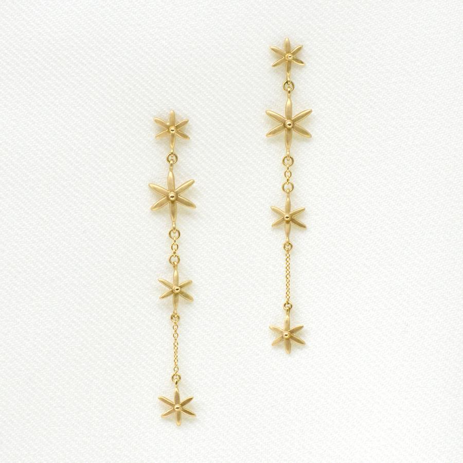 4 Star Dangle Earrings | Magpie Jewellery