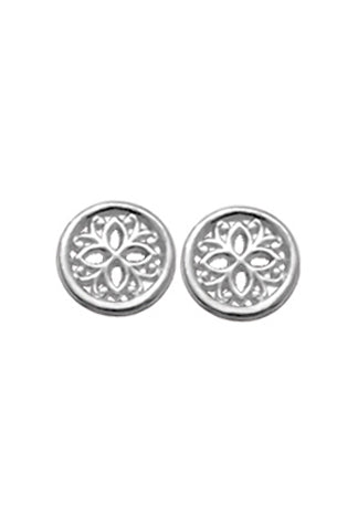 Filigree Flower Disc Stud