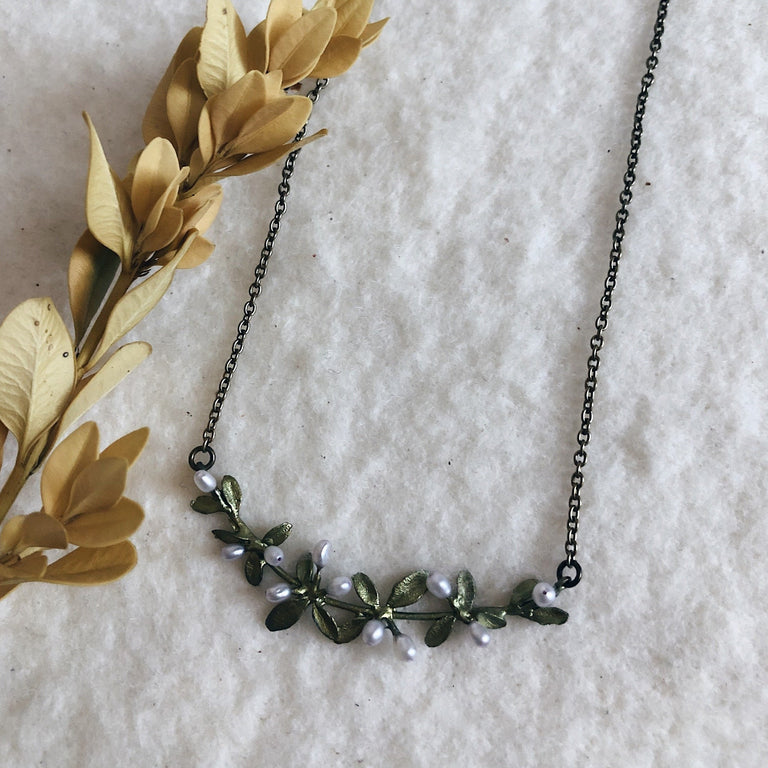 Flowering Thyme Bar Necklace
