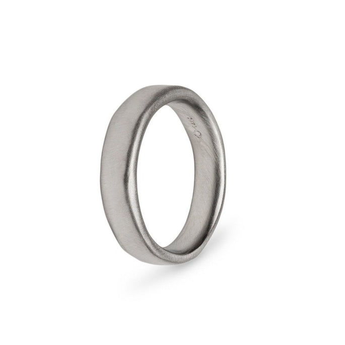 Plain Organic Gold Wedding Band