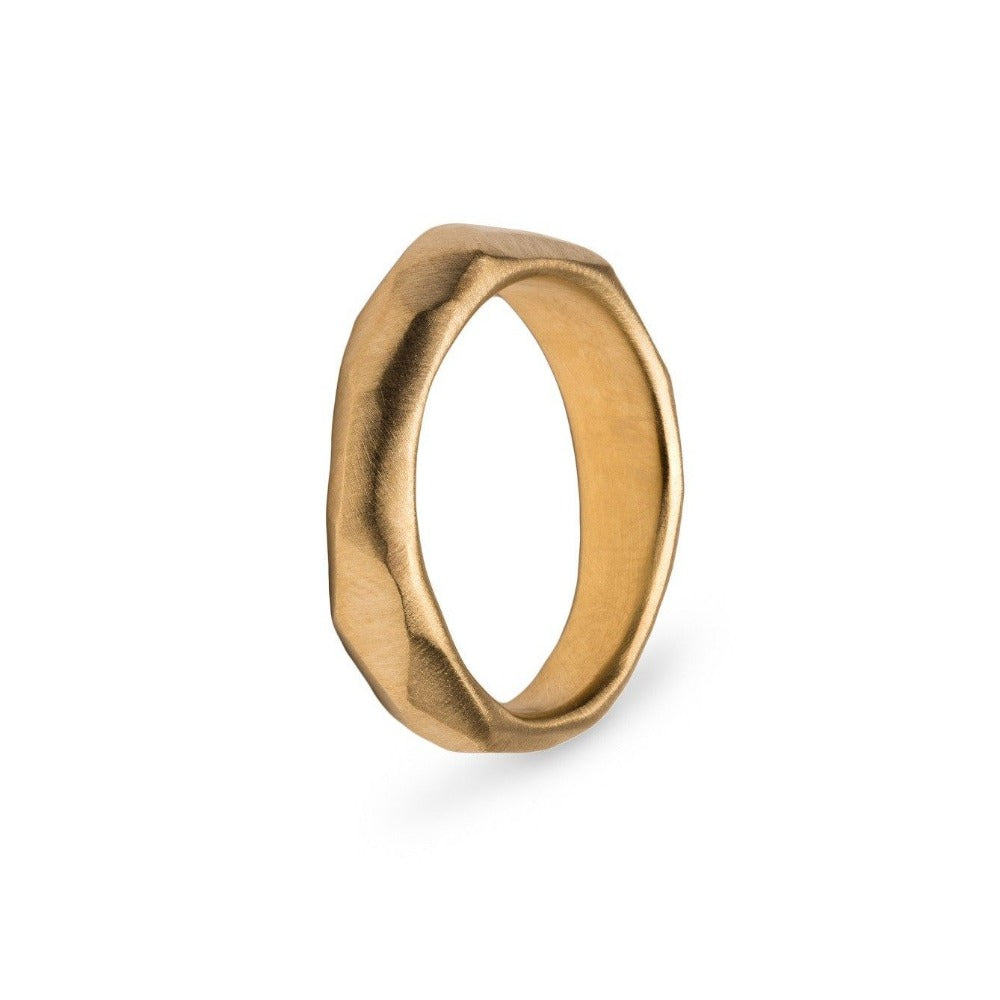 Faceted Gold Wedding  Band