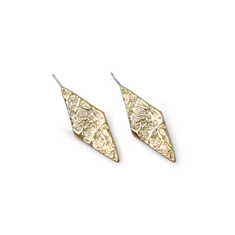 'DIVINA' MOLTEN DIAMOND SHAPED EARRINGS