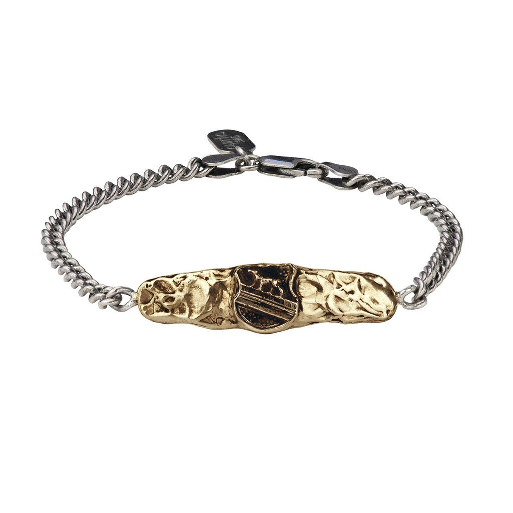 Heart of the Wolf Bar Bracelet Bronze | Magpie Jewellery