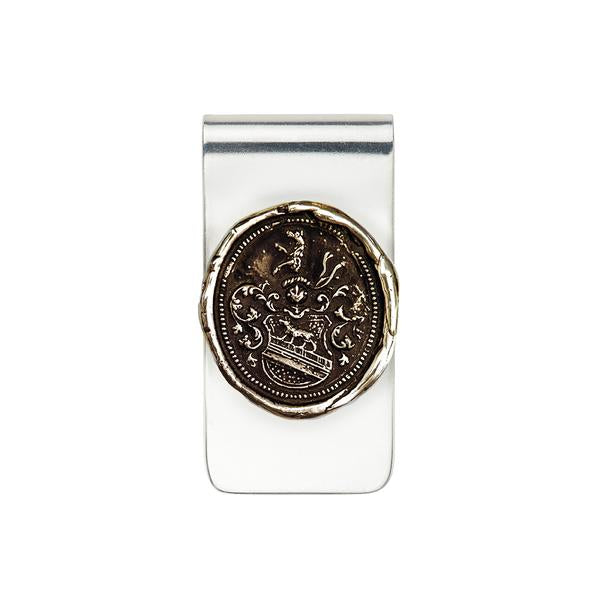 Heart of the Wolf Money Clip-Bronze