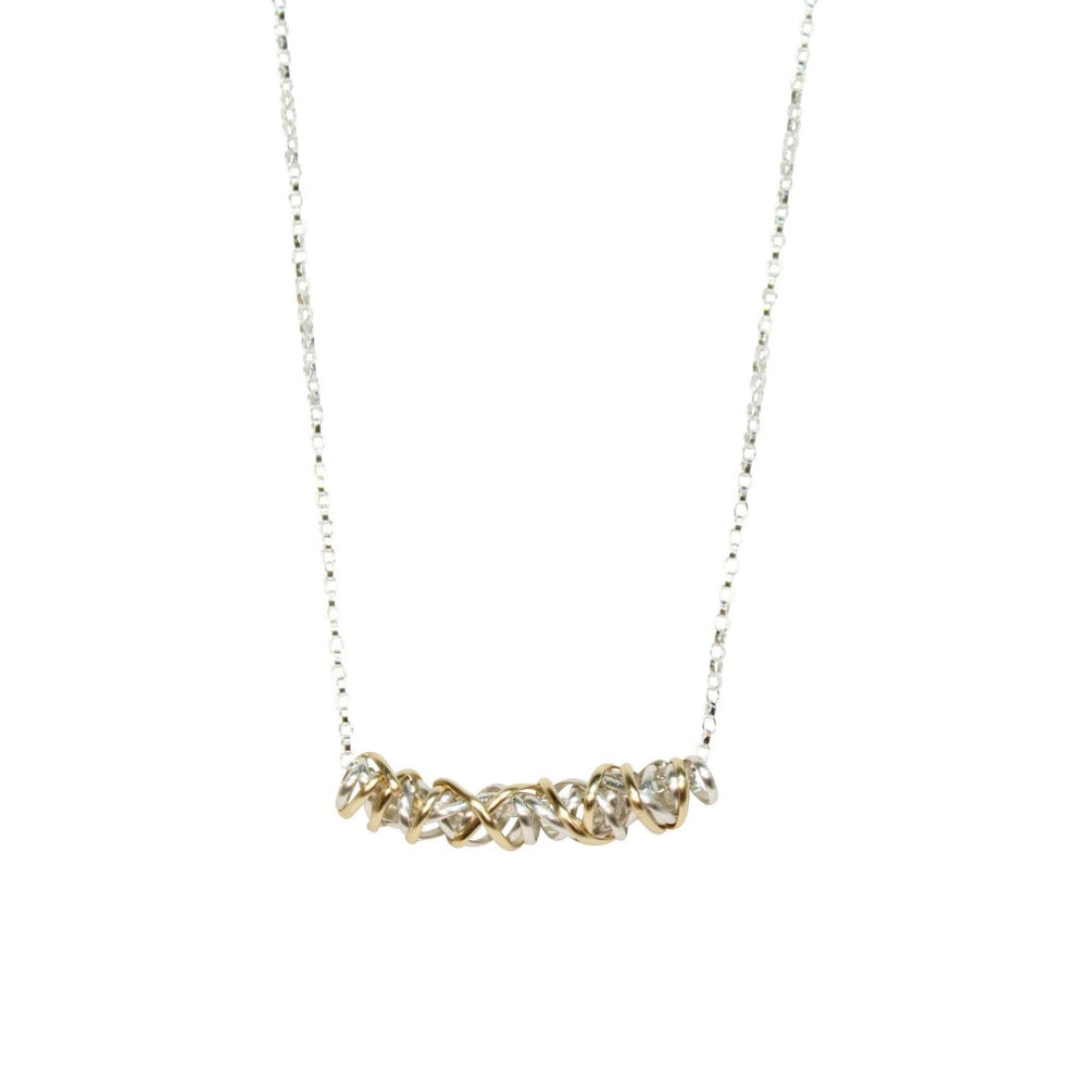 Twist Necklace - Small | Magpie Jewellery | Mixed Metals on Silver Chain