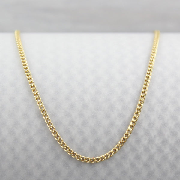 Curb Chain | Magpie Jewellery | Yellow Gold