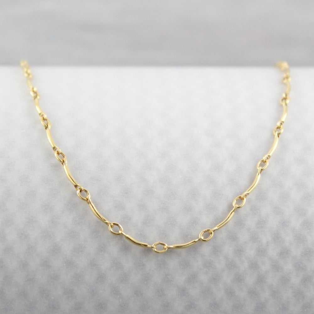 Curved Bar Chain | Magpie Jewellery | Yellow Gold