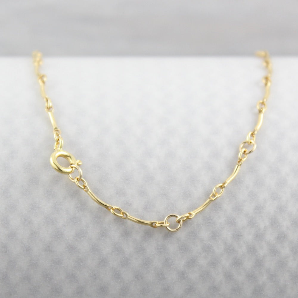 Curved Bar Chain | Magpie Jewellery | Yellow Gold | Spring Clasp