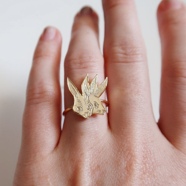 Two-Headed Rabbit Ring