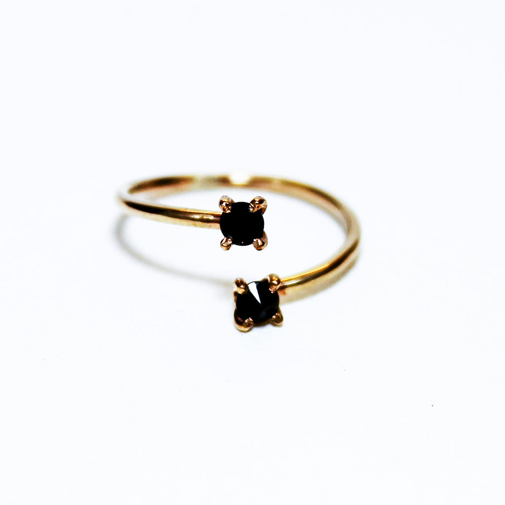 Gold Spinel Wrap Ring | Magpie Jewellery