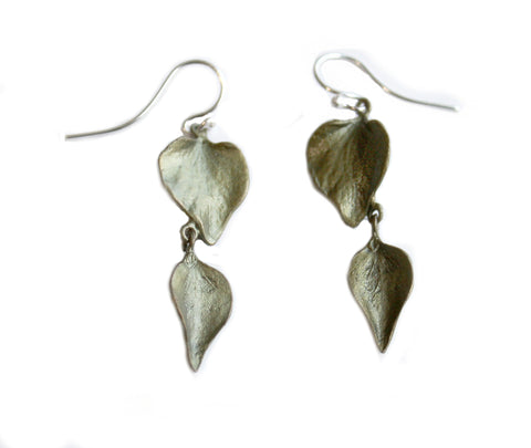 Lilac Double Leaf Earrings