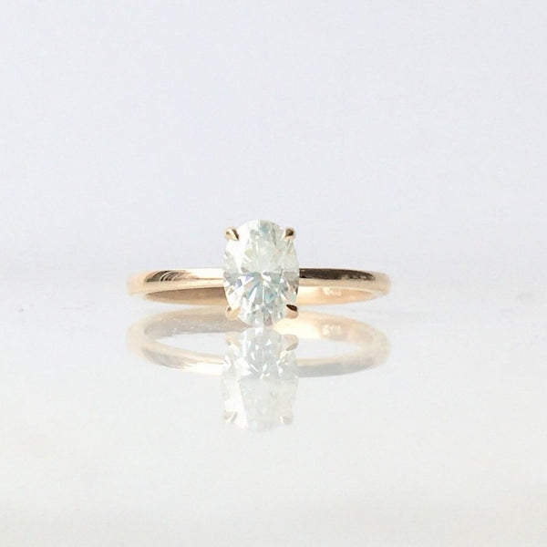 Oval Moissanite Solitaire
