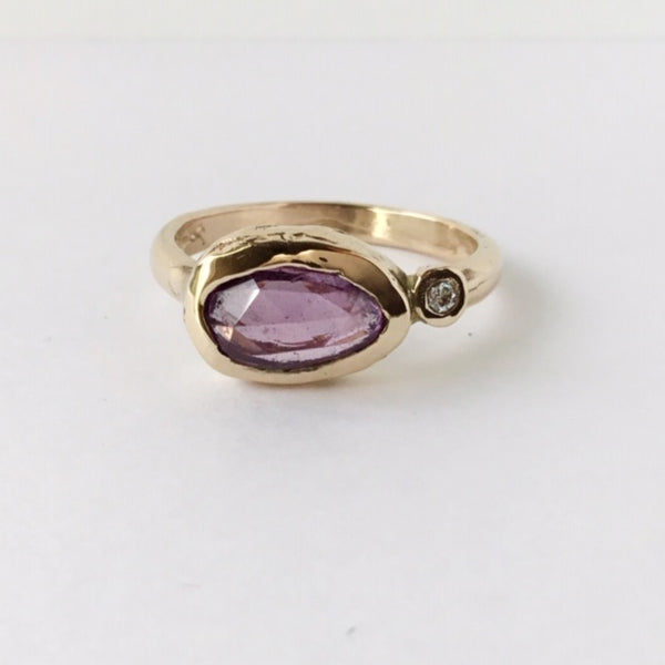 Rose Cut Purple Sapphire | Magpie Jewellery