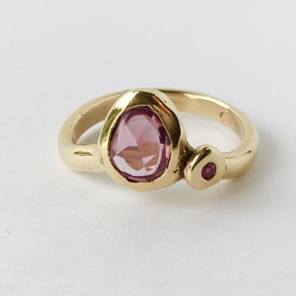 Pear shaped Purple Sapphire Ring