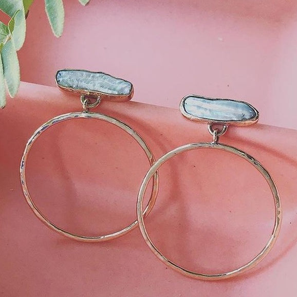 Pearl Cloud Hoop Earrings | Magpie Jewellery