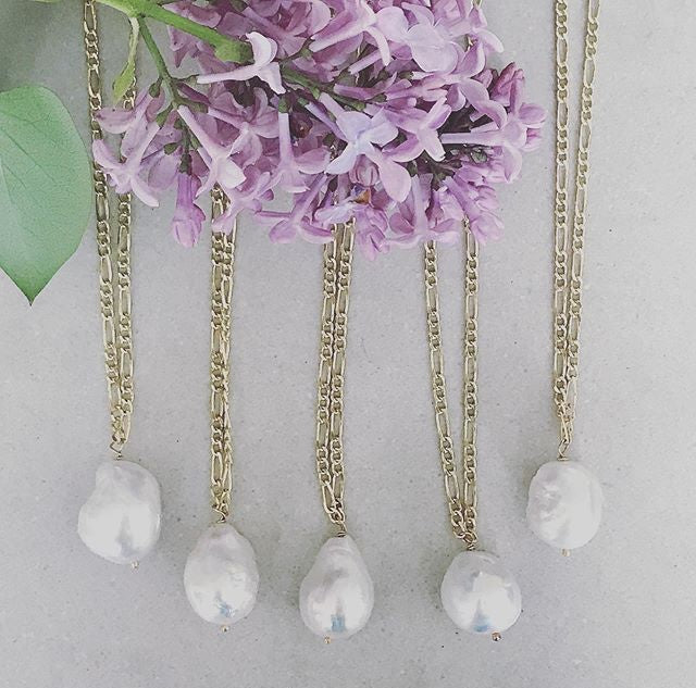 Pearl Drop Necklace | Magpie Jewellery