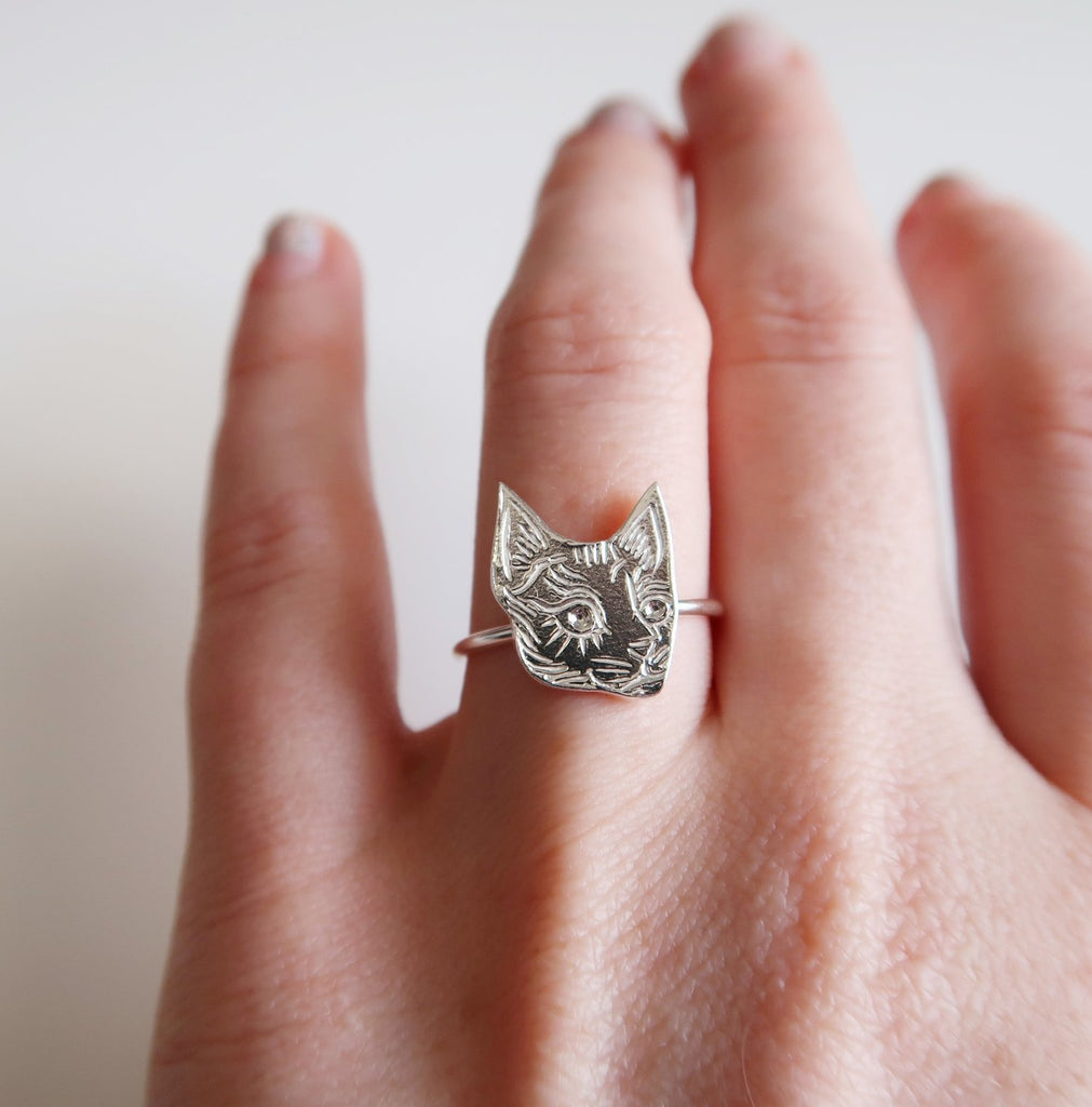 Tiny Cat Ring