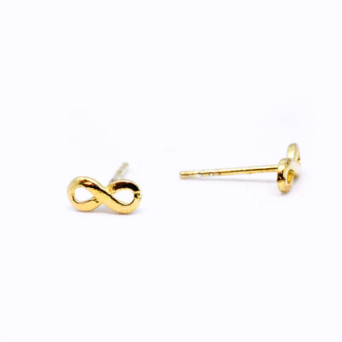 Gold Vermeil Infinity Studs