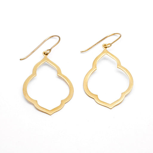 Persian Window Earrings - Gold