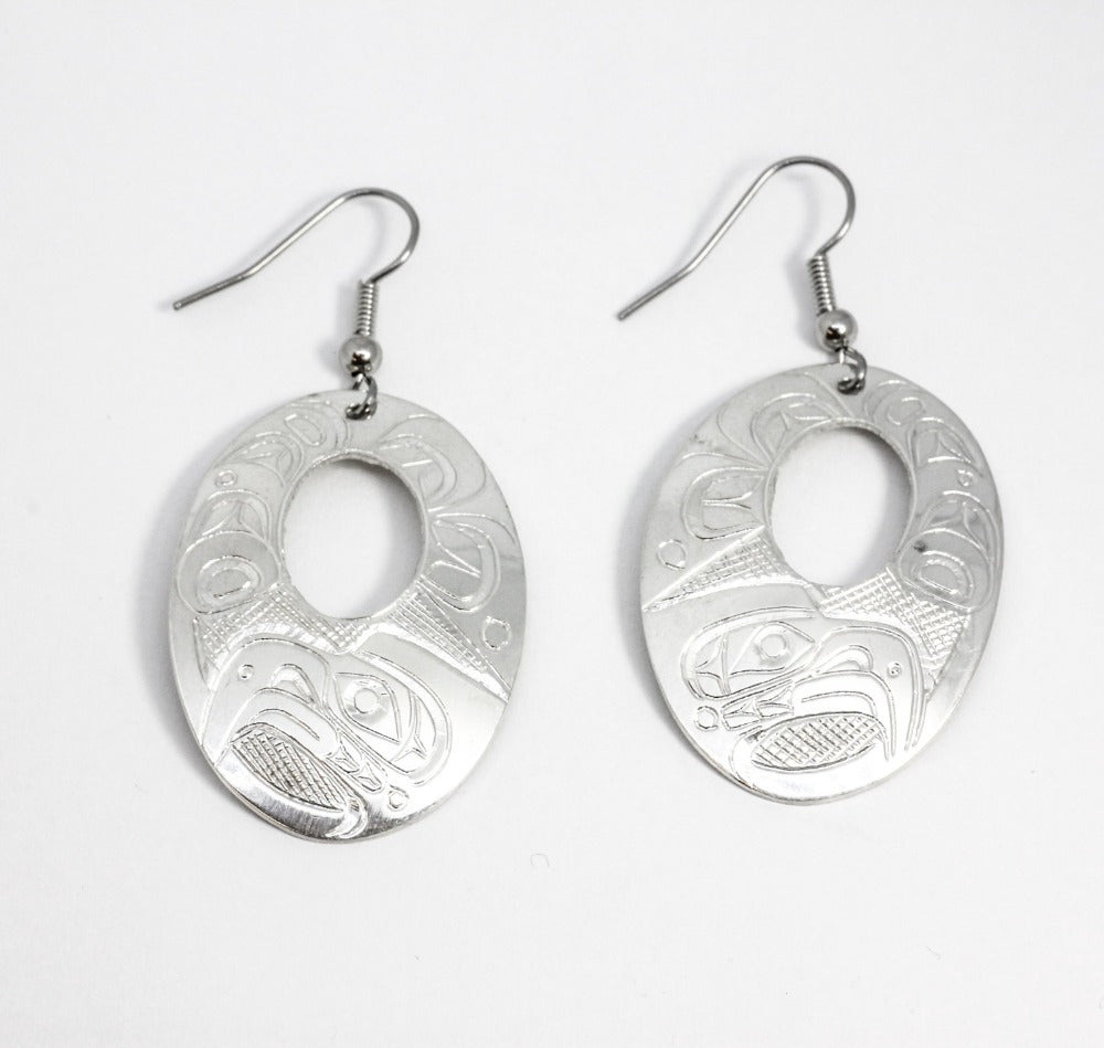 Large Silver Drops w/ Various Totem Animal