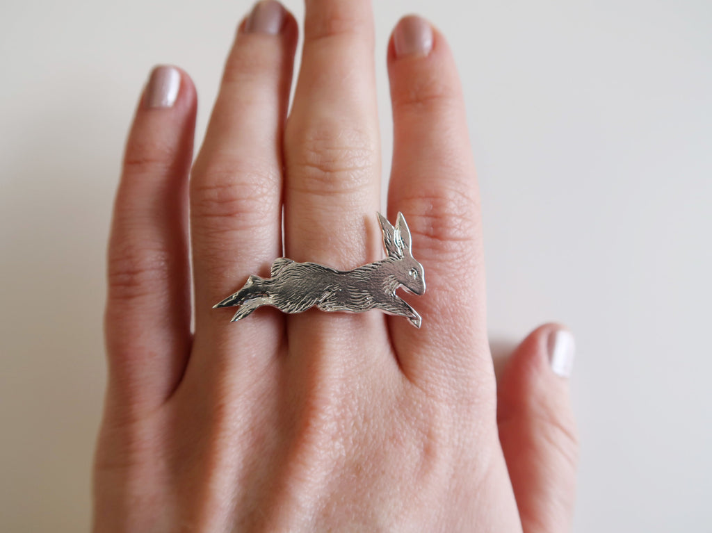 Leaping Rabbit Ring