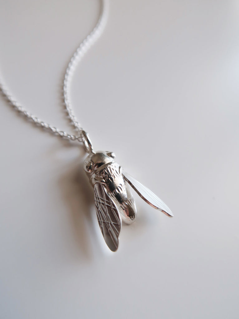 Sculptural Bee Necklace