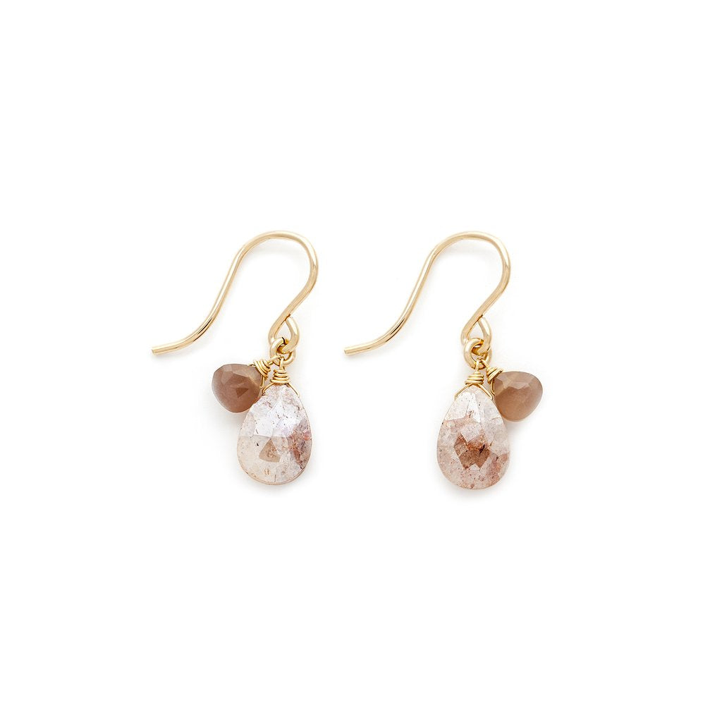 Isabel Blush Moonstone Earrings