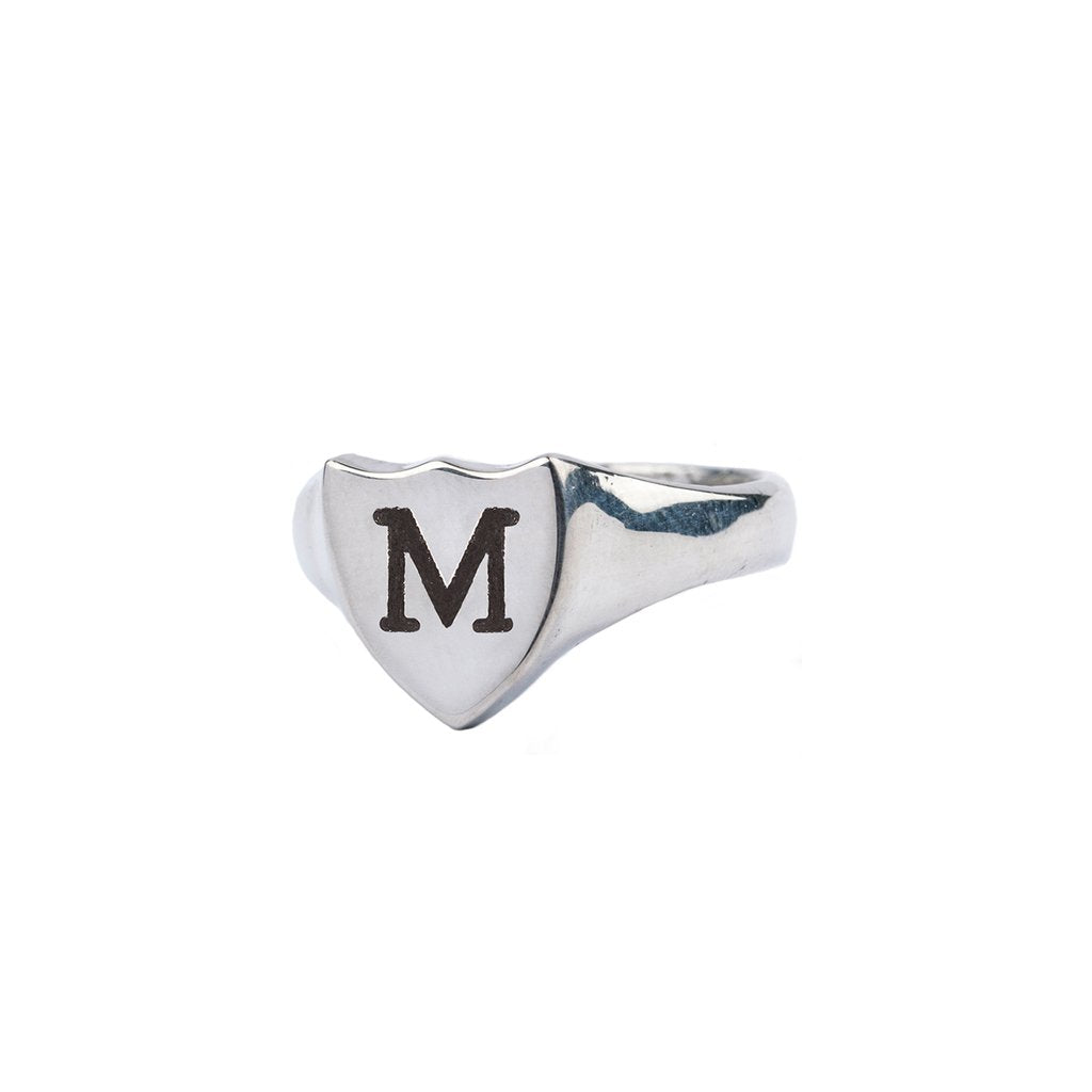 Initial Shield Signet Ring | Magpie Jewellery