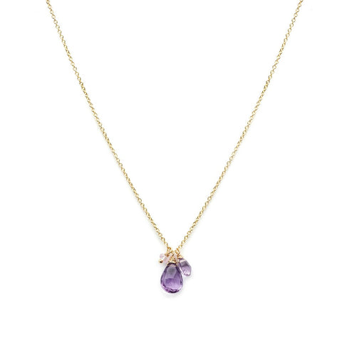Isabel Necklace - Amethyst