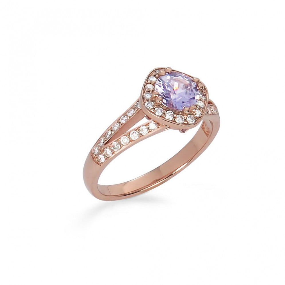 Sapphire Rose Gold Engagement Ring