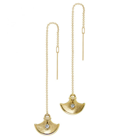 Time Threader Earrings with Diamonds