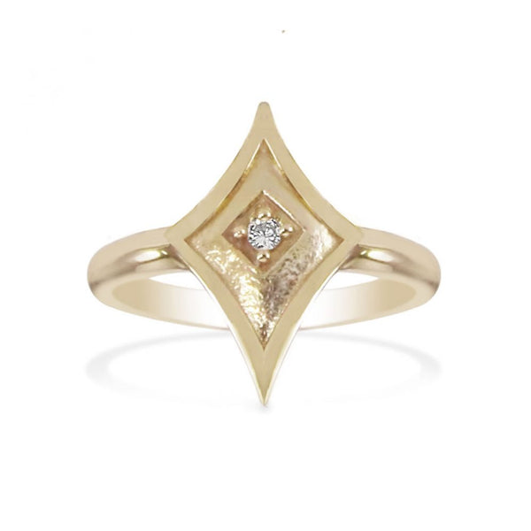 Yellow Gold Precious Time Ring