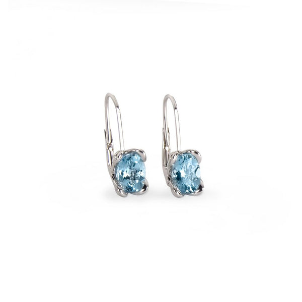 Vive Aquamarine White Gold Earrings