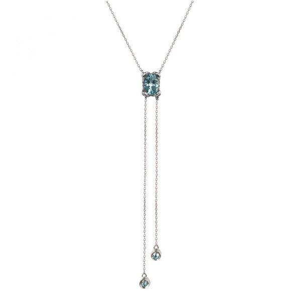 Vive Aquamarine White Gold Necklace