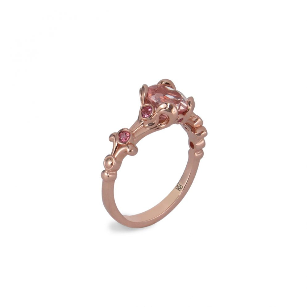Morganite Rose Gold Engagement Ring