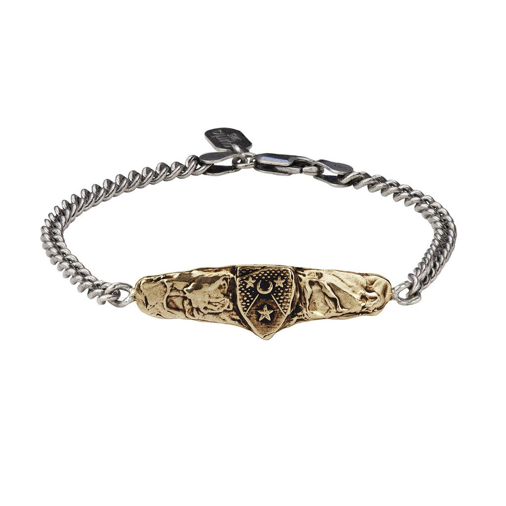 Moon & Stars Bar Bracelet Bronze | Magpie Jewellery