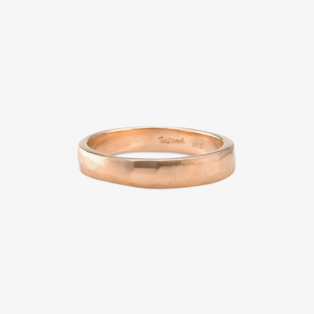 3.7mm Signature Hammered Band RG | Magpie Jewellery