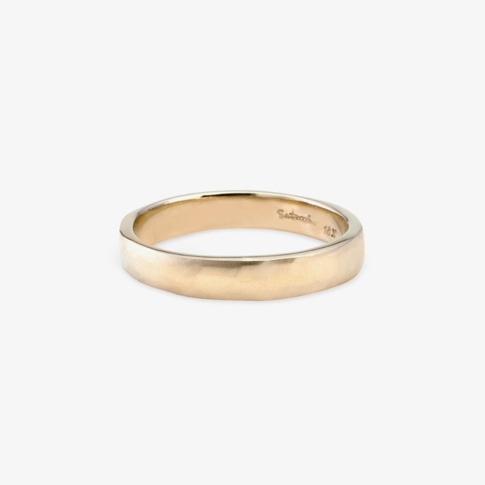 3.7mm Signature Hammered Band WG | Magpie Jewellery
