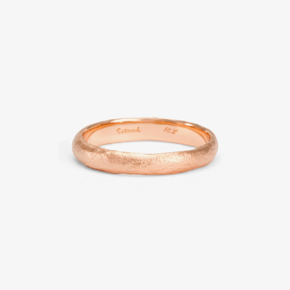 3.6mm Rough Rounded Band RG | Magpie Jewellery