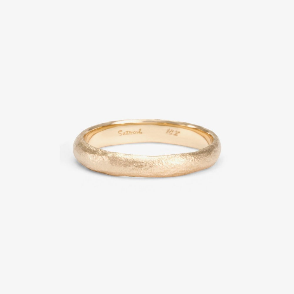 3.6mm Rough Rounded Band WG | Magpie Jewellery