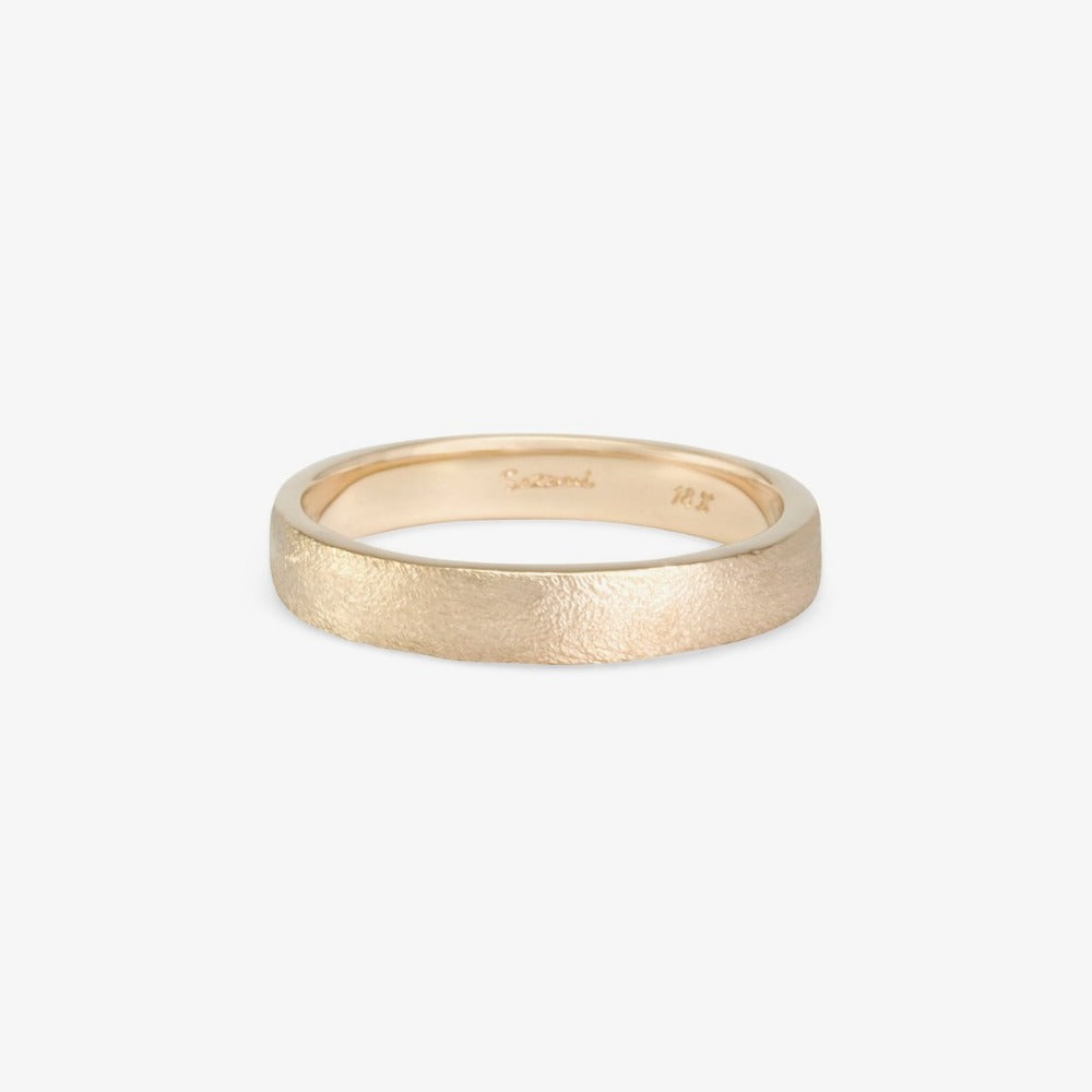 3.7mm Square Gilded Band WG | Magpie Jewellery