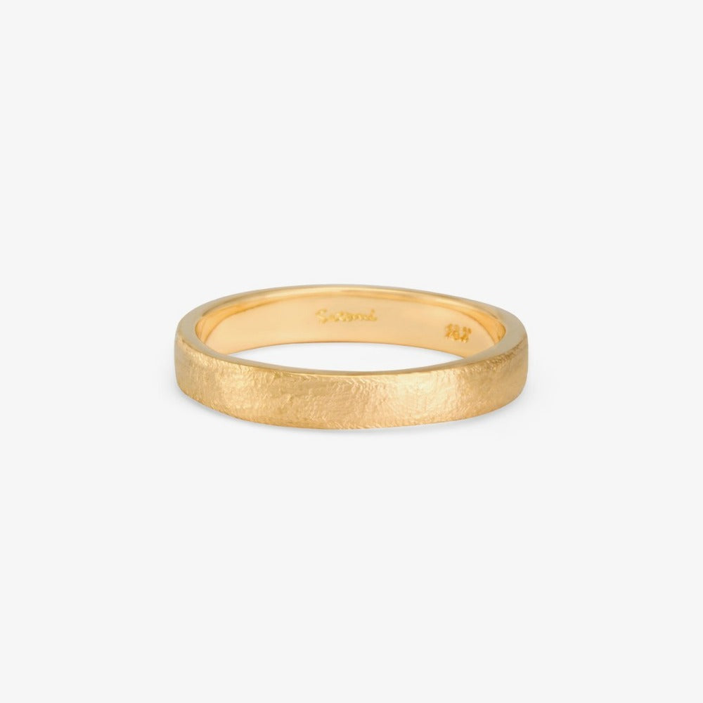 3.7mm Square Gilded Band YG | Magpie Jewellery