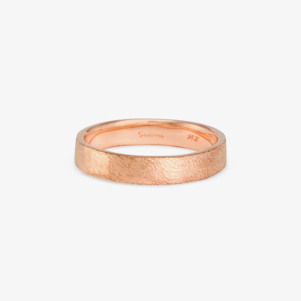 4.2mm Square Gilded Band RG | Magpie Jewellery