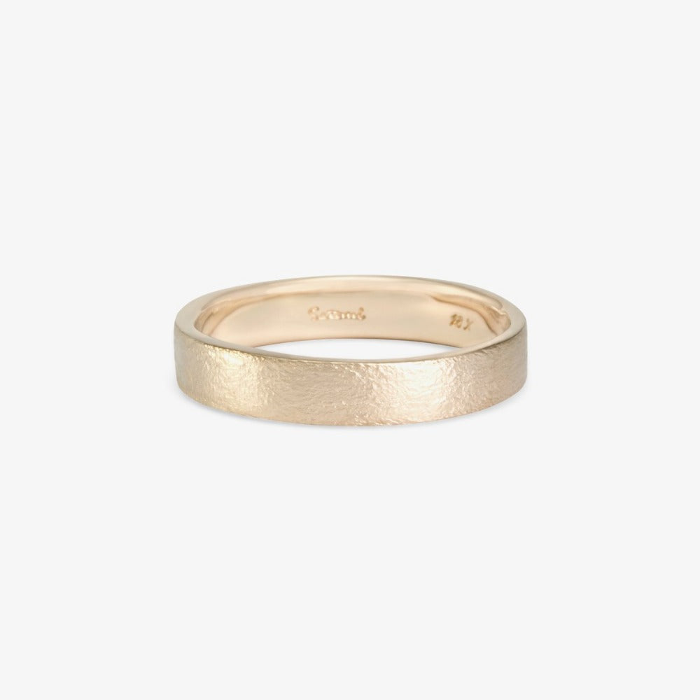 4.2mm Square Gilded Band WG | Magpie Jewellery
