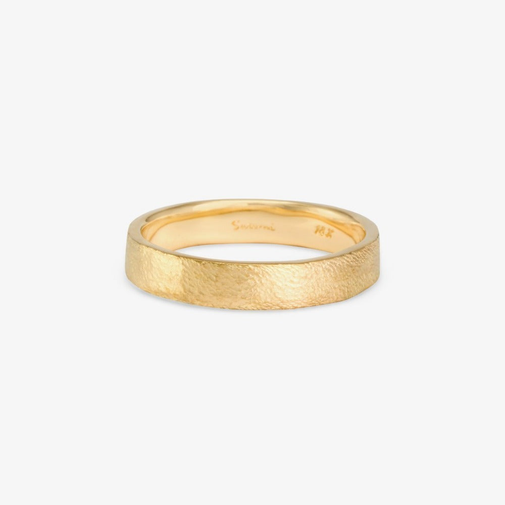 4.2mm Square Gilded Band YG | Magpie Jewellery